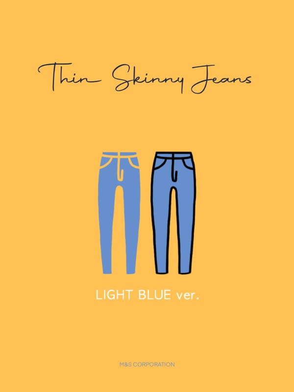 S/S Thin skinny LIGHT BLUE ver.👖💙